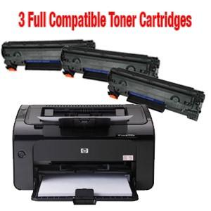 HP LaserJet Pro P1102W Wireless Printer Plus 3 Cartridges Free (Pick-Up Only)